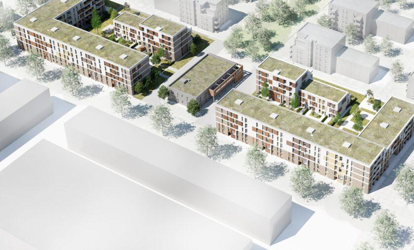 Neubau Düsseldorf-Heerdt (185 WE / 1 GE)